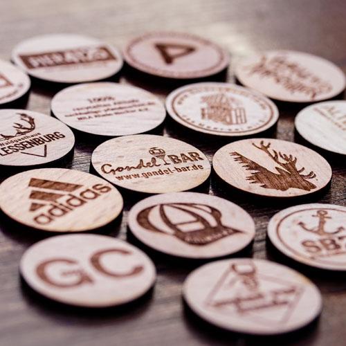 Holz-Pfandmarken Nachhaltigkeit